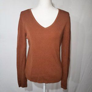CHICO'S Silk / Cotton long sleeve sweater top